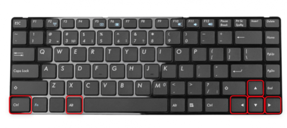 Phím tắt xoay màn hình laptop