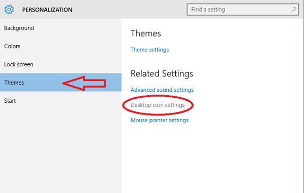 Cách đưa My Cpmputer ra màn hình Desktop WIn 10 bằng Personalize (1)