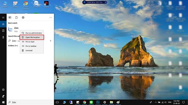 Cách đưa icon phần mềm ra Desktop