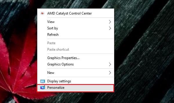 Cách đưa My Cpmputer ra màn hình Desktop WIn 10 bằng Personalize