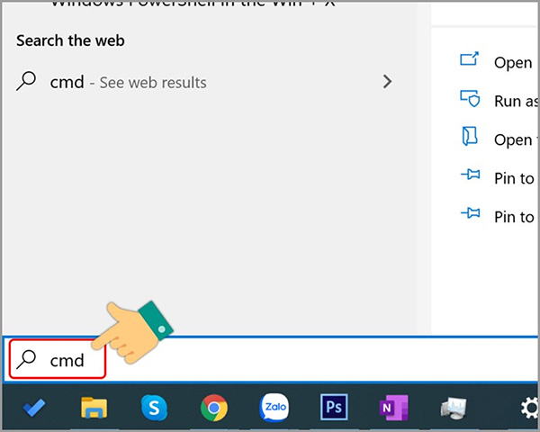 Sử dụng lệnh Command Prompt để mở Task Manager