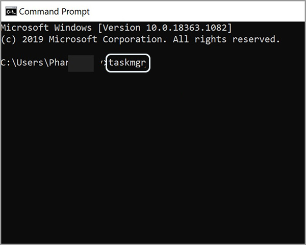 Sử dụng lệnh Command Prompt để mở Task Manager (2)